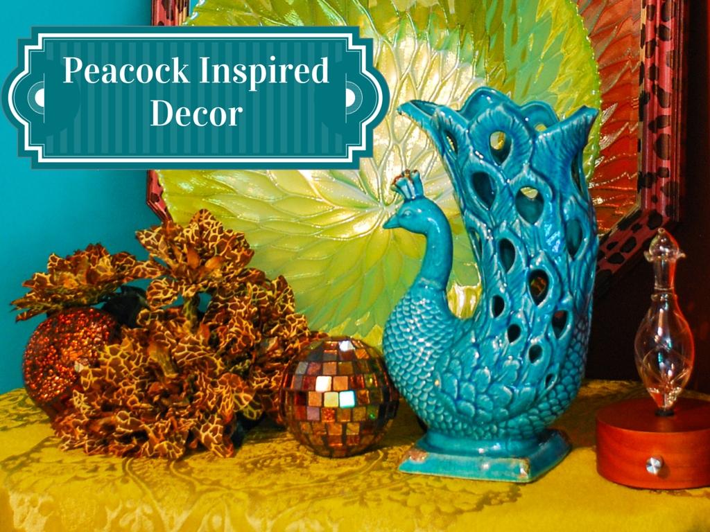 Peacock Inspired Decor