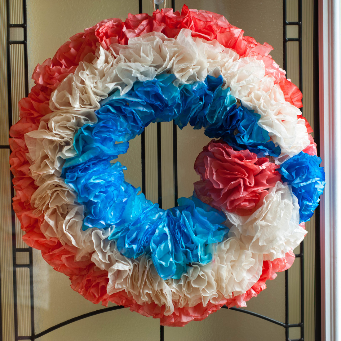 4th July Coffee Filter Wreath Tutorial