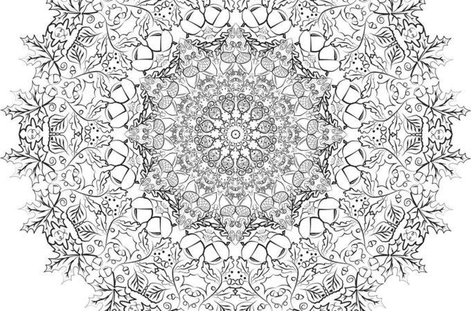 Free Printable Fall Leaf Mandala