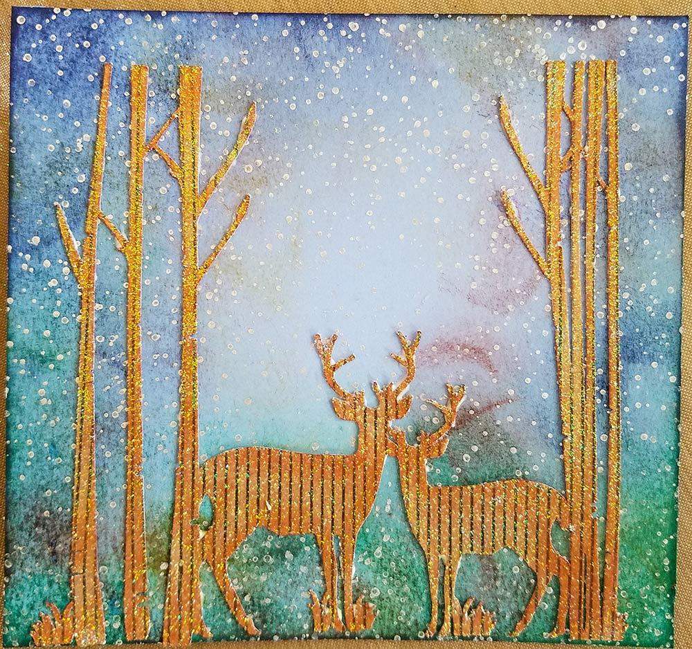 Winter Deer Christmas Card